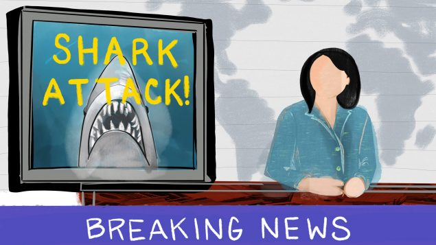Anchor reporting breaking news